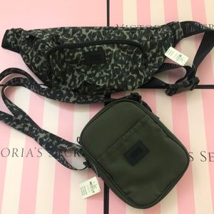 (2) Pieces PINK Fanny Pack & crossbody